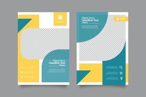 modelo de design de capa de livro corporativo vetor