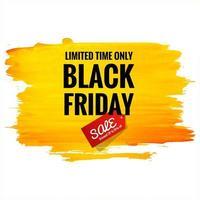 lindo pôster preto de venda na sexta-feira com pincelada vetor