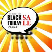 design de bolha de bate-papo de venda sexta-feira negra