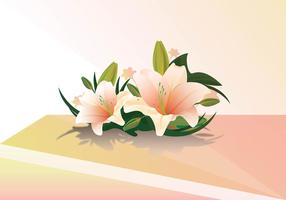 Vetor realístico da lily de Pásco