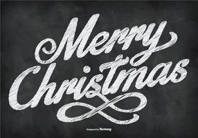 Chalkboard Style Happy Christmas Illustration vetor