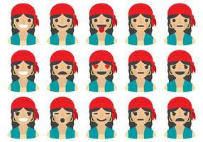 Emoticons Gipsy Woman vetor