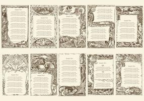 Quadros de texto do poema vintage vetor