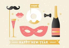 Elementos de fundo gratuitos do ano novo feliz vetor