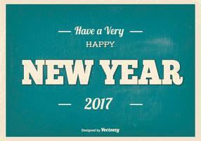 Ilustração tipográfica de feliz ano novo vetor