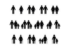 Vector de pessoas diversidade familiar