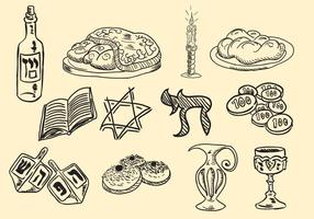 Ícone Shabbat Handrawn vetor