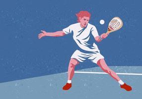 Jogador de tênis de padel vetor