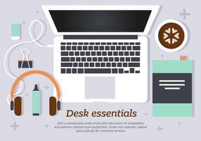 Morning Desk Essentials Ilustração vetorial vetor