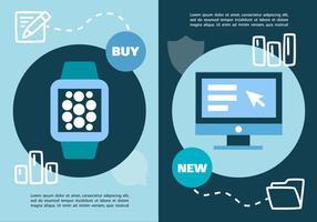 Ilustração digital do vetor de negócios de marketing digital grátis