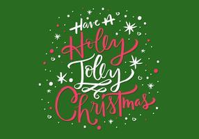Rotulação alegre do natal de Holly vetor