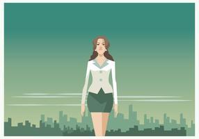 Bonito vector mulher de negócios