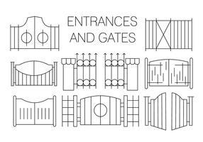 Ícones de porta grátis vetor