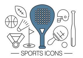 Ícones de esportes gratuitos vetor