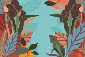folhagem abstrata e fundo de arranjo floral vetor