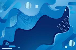 fundo azul abstrato fluido vetor