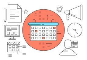 Ícones gratuitos de planejamento de gerenciamento vetor