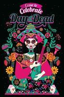convite do dia dos mortos vetor