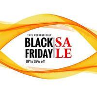 fundo preto onda elegante venda sexta-feira