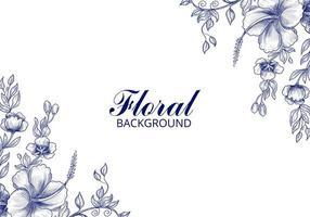 fundo de cartão floral de casamento