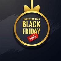 fundo preto conceito de venda sexta-feira