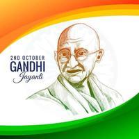 celebração do feriado de gandhi jayanti na Índia no dia 2 de outubro vetor