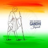 2 de outubro ou gandhi jayanti para o fundo do festival nacional vetor