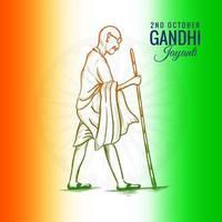 2 de outubro gandhi jayanti para o fundo do pôster criativo vetor