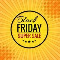 fundo preto do pôster conceito de venda sexta-feira