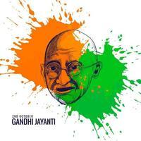 festival nacional gandhi jayanti celebrado na índia pôster vetor