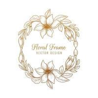 desenho de moldura floral decorativa decorativa