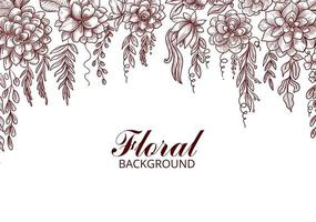 fundo decorativo de desenho de flor desenhada à mão