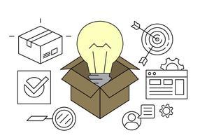 Ícones de vetor de idéia de negócios