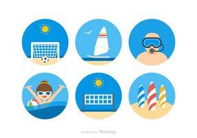 Ícones livres do vetor das atividades da praia