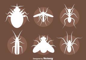 Conjunto de vetores de silhueta de insetos