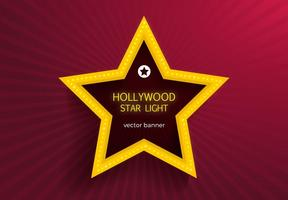 Livre hollywood star lights vector banner