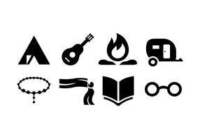 Conjunto de vetores de ícones ciganos