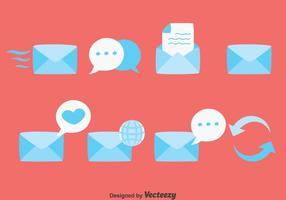 Conjunto de vetores de comunicação de mensagens