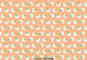 Padrão sem emenda de flores de algodão vetor