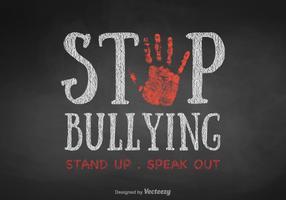 Vetor livre pare o bullying background