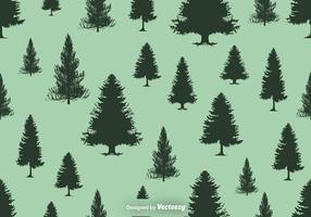 Silhuetas de pinheiros padrão sem costura - vetor