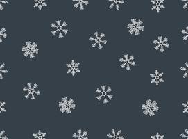 Padrão sem emenda Vector Snowflakes desenhado à mão