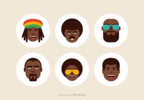 Ícones livres de vetores masculinos afro