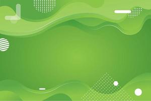 fundo verde com ondas gradientes vetor