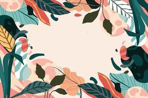 fundo colorido de folhagem e folhas vetor