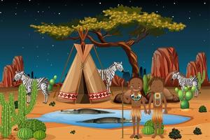 desenho de tribo nativa africana vetor