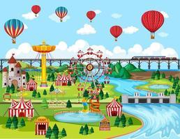 fundo festival parque de diversões vetor
