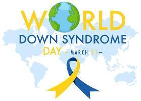 banner do dia mundial da síndrome de down vetor