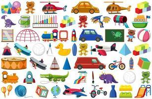 conjunto de brinquedos infantis vetor