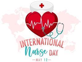 banner do dia internacional da enfermeira vetor